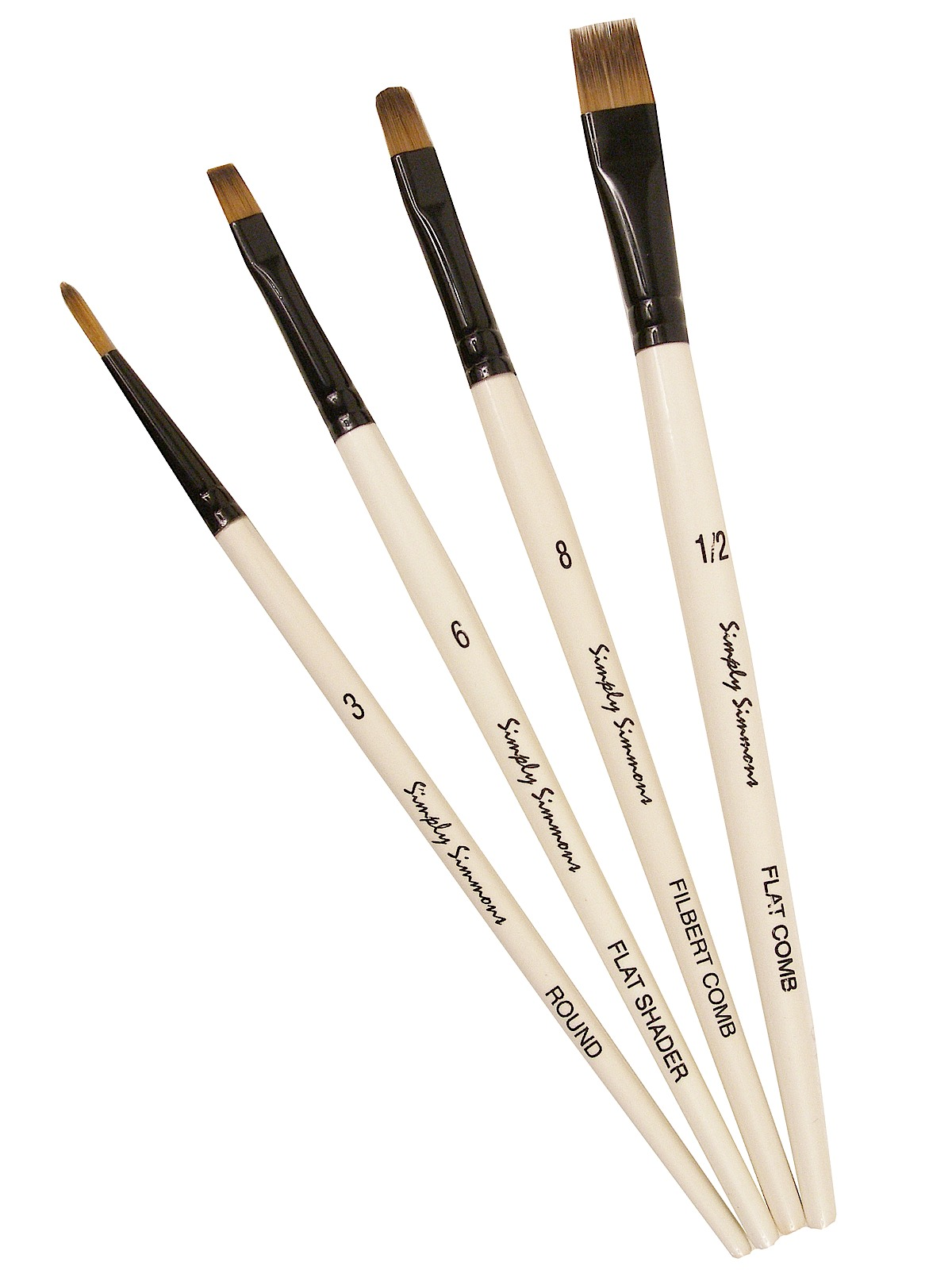 Simply Simmons Short Handle Brush Sets