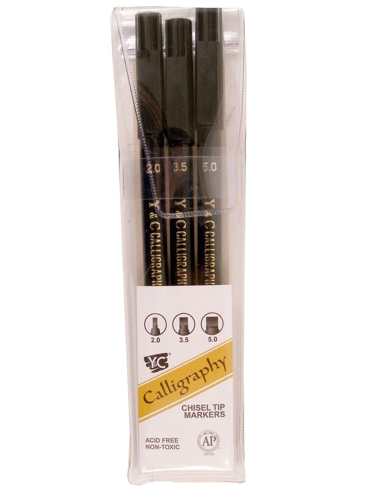 Calligraphy Chisel Tip Marker Set