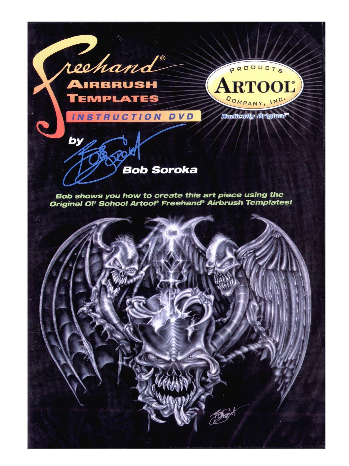 Freehand Airbrush Templates Instructional DVD by Bob Soroka