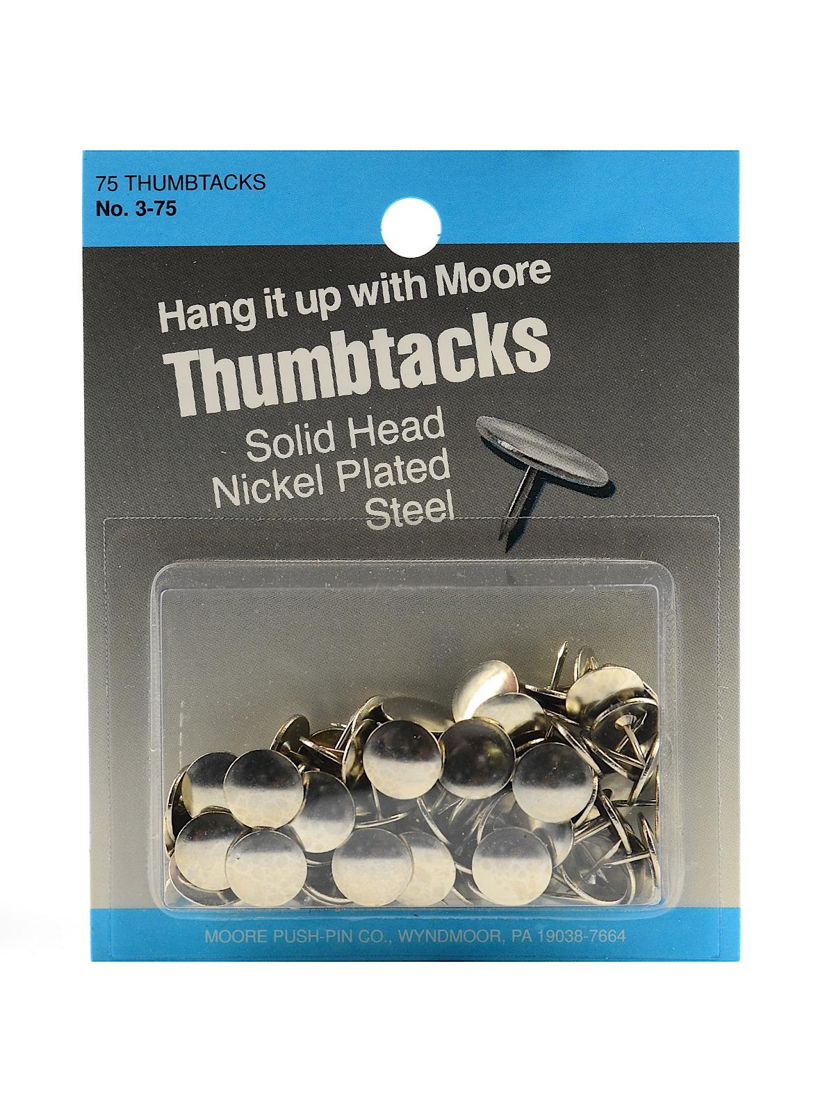 Solid Head, Nickel-Plated Thumbtacks