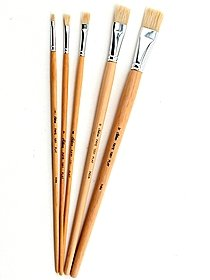 Faye Series White Chinese Bristle Brushes