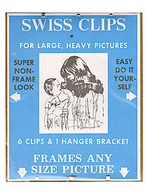 Swiss Clips for large, heavy pictures pack of 6