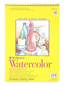300 Series Watercolor Paper 9 in. x 12 in. pad pad of 12 tape bound