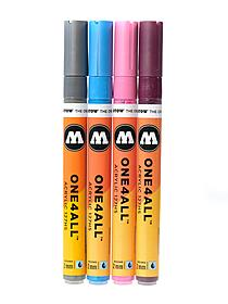 One4All Acrylic Paint Markers 2 mm shock blue middle 161