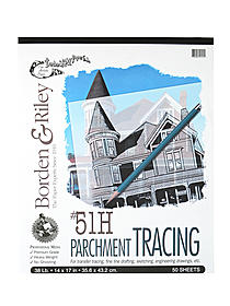 #51H Parchment Tracing Paper 11 in. x 14 in. pad of 50