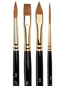 Renaissance Series Brushes Short Handle