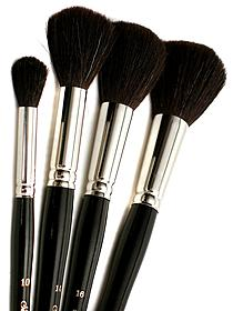Series Black Round/Oval Mop Brushes