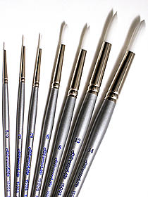 Silverwhite Series Synthetic Brushes Short Handle