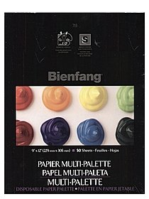 Multi-Palette Disposable Paper Palette