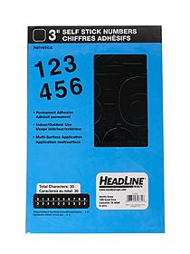 Black Vinyl Stick-On Letters or Numbers