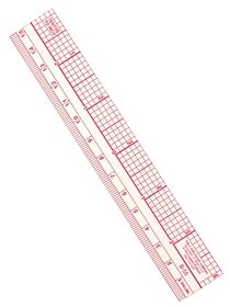 Metric Transparent Beveled Rulers