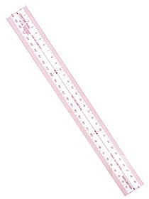 Metric Transparent Ruler