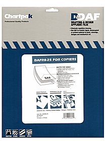 Drafting and Design Applique Film copier, matte top sheet, permanent