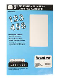 White Vinyl Stick-On Letters or Numbers