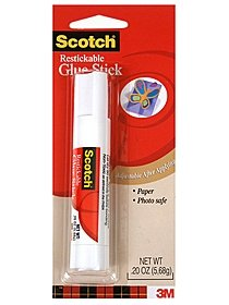 Restickable Glue Stick