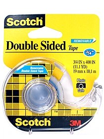 Removable Double-Sided Tape 3 4 in. x 600 in. roll