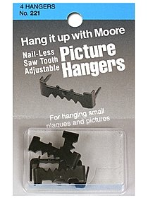 Nail-less Saw Tooth Adjustable Picture Hangers
