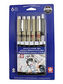 Manga-Comic Pro sketching & inking set of 6