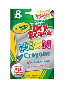 Dry-Erase Crayons neon box of 8 06870
