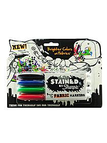 Stained Brush-Tip Fabric Marker Sets set of 4