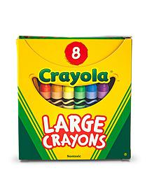 Large Crayons box of 16 70658
