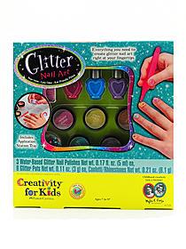 Glitter Nail Art each