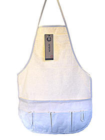 Natural Canvas Apron with Pockets