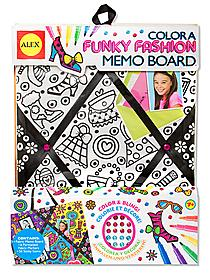 Color a Funky Fashion Memo Board each