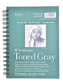 400 Series Toned Sketch Paper Pads (Wirebound)