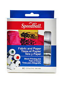Fabric & Paper Block Printing Ink Kit