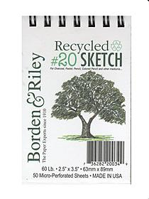#20 Recycled Artist Sketch Paper
