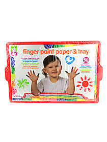 Tots Finger Paint Paper & Tray