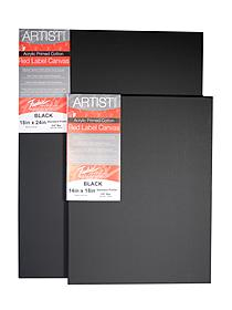 Red Label Black Stretched Cotton Canvas