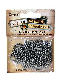 Signed Sealed and Remembered Ball Chains