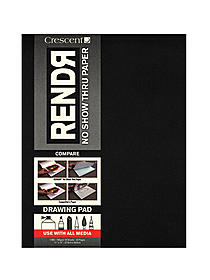 RendR No Show Thru Drawing Pad 9 in. x 12 in. tapebound pad of 24 sheets