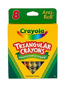 Washable Triangular Crayons box of 8 31277