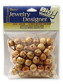 Big Value Printed Wooden Beads