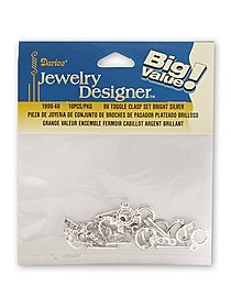 Big Value Toggle Clasp Set Bright Silver