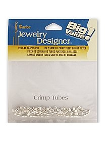 Big Value Crimp Tubes Bright Silver 2.5mm pack of 144