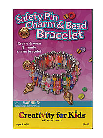 Safety Pin Charm & Bead Bracelet Mini Kit