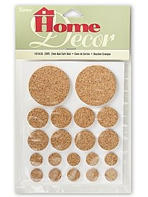 Round 2mm Thick Cork 20pc Assorted