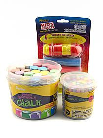Sidewalk Chalk giant sticks pack of 4 with holder