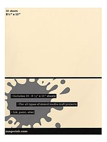 Mixed Media Cardstock 8 1 2 in. x 11 in. pack of 10 sheets 19275
