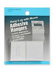 Adhesive Sawtooth Hanger pack of 4