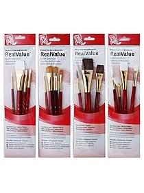 Real Value Series 9000 Red Short Handled Brush Sets