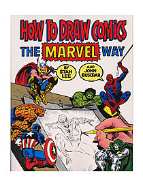 The legendary Stan Lee and John Buscema, artist behind the Silver Surfer, Conan the Barbarian, the Thor and Spider-Man, bring you this guide for creating your own superhero comic. Buscema illustrates methods of with famous Marvel Comics heroes, and Stan Lee provides assistance and advice through colorful prose. How to Draw Comics the Marvel Way belongs in the library of every aspiring comic artist.