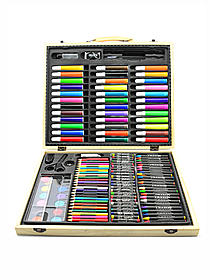ArtyFacts Deluxe Art Set in Wood Case
