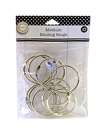 Binding Rings chrome small pack of 10