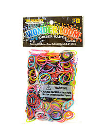 Wonder Loom Rubber Bands and Clips multicolor pack of 600