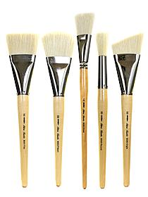 Silver Jumbo Oil Brushes oval extra large